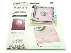 5-inch x 7-inch Transparent Natures Garden NG-BBUT-EF5-3D-MB Beautiful Collection-5 x 7 3D Embossing Folder-Majestic Butterflies