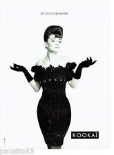 PUBLICITE ADVERTISING 056  1987  Kokai pret à porter mode 5