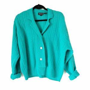 Vintage-1980s-slouchy-grandma-sweater-aqua-blue-lambs-wool-women-size-large