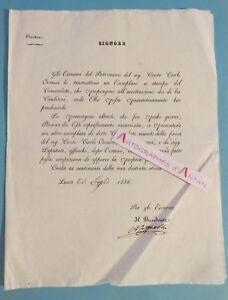 Lettre-1836-en-italien-Conte-Carlo-Orsucci-signataire-a-identifier-LUCCA-Italia