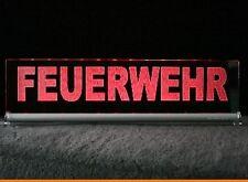 LED - FEUERWEHR - LEUCHTSCHILD 40x10cm 220V oder 12Volt