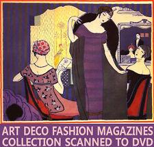 ☆ GAZETTE DU BON TON ☆ Art Deco Fashion Design Mag. ☆ 10 Vols Scanned ☆ DVD-Rom