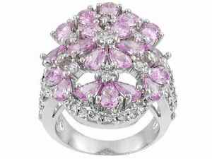 Size-10-Bella-Luce-Pink-amp-White-Diamond-Simulant-7-74ct-Sterling-Silver-Rng