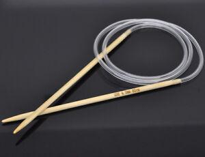 "15 sizes 32/"" bamboo Circular knitting needles US 0-15"