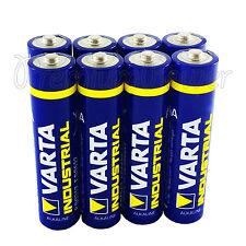8 x Varta AAA batteries Alkaline Industrial LR03 Micro 4003 MN2400 FREE Shipping