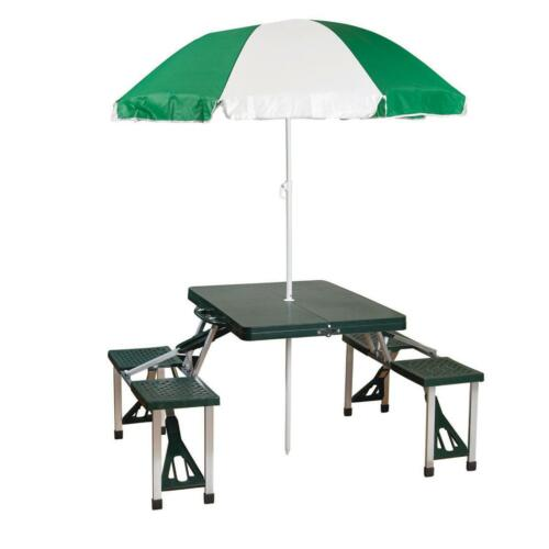 Aluminum Frame Multiple Colors 200 Pound Details about  /Foldable Picnic Table with Umbrella