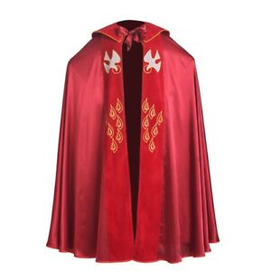 Catholic-Church-Cape-Vestment-Cope-Priest-Liturgical-IHS-Embroidery-Holy-Red