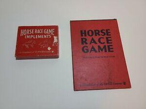 1940s Coca Cola Milton Bradley Horse Race Game w/Board