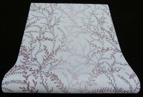 """6 rôles modernes nappes papier peint /""""SEASONS/"""" lianes gris clair aubergine 02502-80-519"""