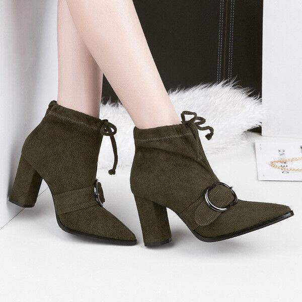 vendita con alto sconto Stivali stivaletti bassi scarpe caviglia verde 10 cm eleganti simil simil simil pelle 9672  Sconto del 70% a buon mercato