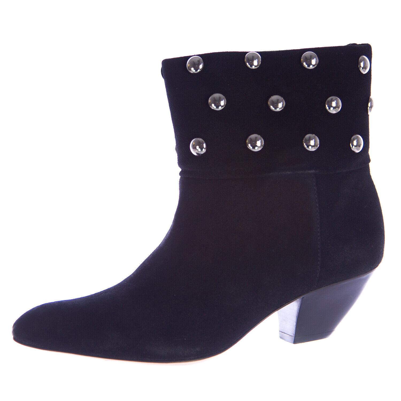 REBECCA MINKOFF Donne  Coloreeado nero Suede Heeled Ankle stivali Sz 7  325 NUOVO  perfezionare