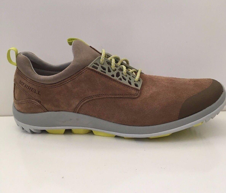 NEW Merrell Emergy Uomo Suede Suede Suede Hiking scarpe da ginnastica Otter Marronee J23691 scarpe Sz 8.5 ee2858