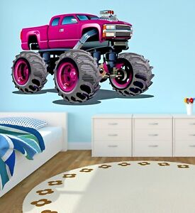 Stupendous Details About Monster Truck Wall Decal Kids Bedroom Art Playroom Decor Sticker Vinyl J382 Home Interior And Landscaping Ologienasavecom