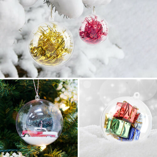 140PCS Clear Christmas Ball Baubles Sphere Fillable Xmas Tree Ornament 5//8//10cm