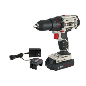 Porter-Cable-20V-MAX-1-3-Ah-Li-Ion-1-2-in-Drill-Driver-PCC601LA-New