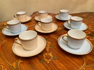 8 Cups 8 Saucers Vintage Danish Bing & Grondahl Porcelain Coffee Set