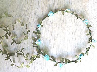 Flowers Crown Headband Hair Garland Bride Wedding Headwear Accessories 15 Colors