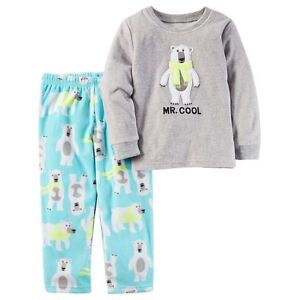 39519d61fda1 NWT ☀FLEECE☀ CARTERS Boys Pajamas MR COOL New BEAR 4 4T  32
