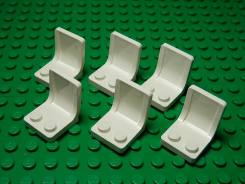 LEGO LEGOS Set of 6 NEW Minifig Utensil Seat Chairs for LegoFigs 2 x 2  WHITE