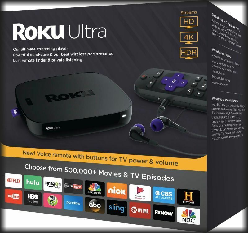 s-l1600 Roku Ultra Streaming Player (2017 Edition) in Retail Box !!!