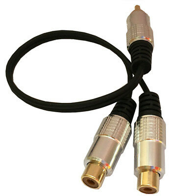 Rca Male To 2 Phono Female Splitter Y Adapter Cable Lead T