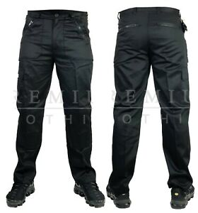 Mens-Cargo-Extra-Heavy-Duty-Work-Trousers-Combat-Casual-Pants-Multi-Pockets