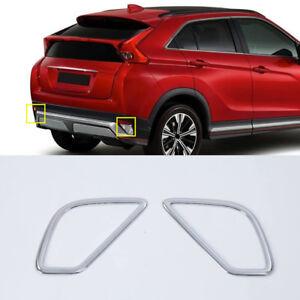 For-Mitsubishi-Eclipse-Cross-2018-ABS-Chrome-Rear-Fog-Light-Lamp-Cover-Trim-2pcs