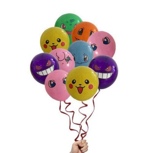 "10 x Pokemon multi character Printed Latex Party Balloons 12/"" UK SELLER"