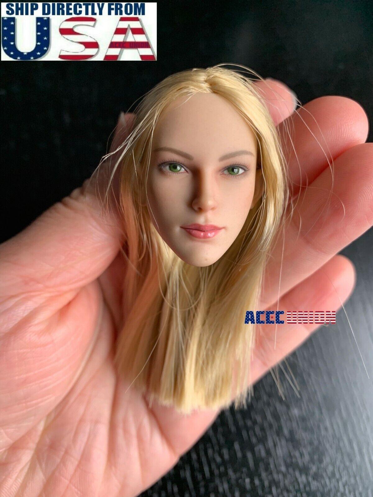 1 6 Female FX07A Head Sculpt Blonde Hair SUNTAN For 12  PHICEN VERYCOOL U.S.A.