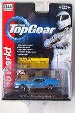 AUTO WORLD 1971 FORD MUSTANG MACH 1 #2 Blue PREMIUM ACRYLIC CASE 1:64 B