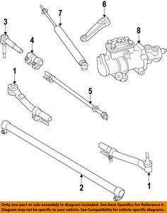 ford oem 08 10 f 250 super duty steering drag link end right ford truck steering column diagram image is loading ford oem 08 10 f 250 super duty