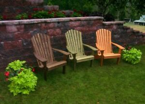 A L Furniture Co Pressure Treated Pine Fanback Adirondack Chairs
