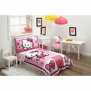 Hello Kitty Toddler Bed.Sanrio Hello Kitty Sweetheart 4 Piece Toddler Bed Set