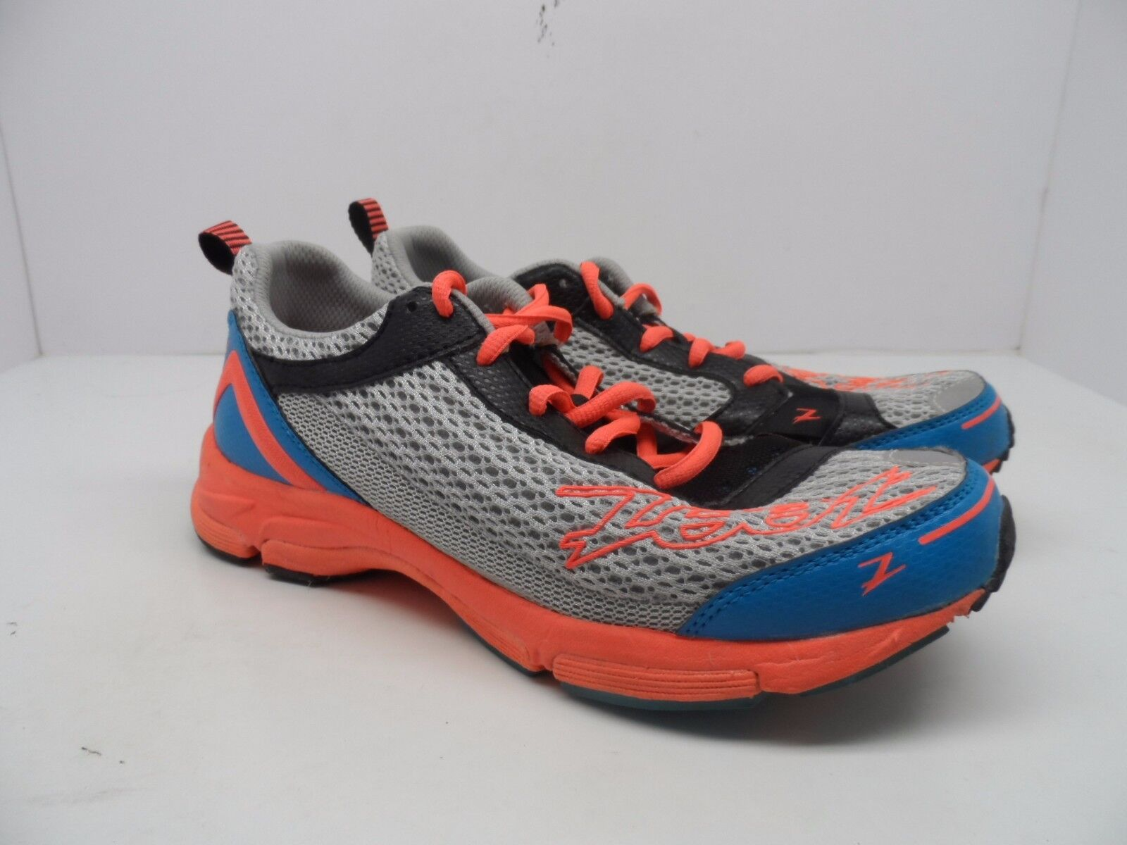 Zoot Running Women's Tempo Trainer Running Zoot Shoe Silver/Atomic Blue/Fiery Coral Size 8.5M a952d6