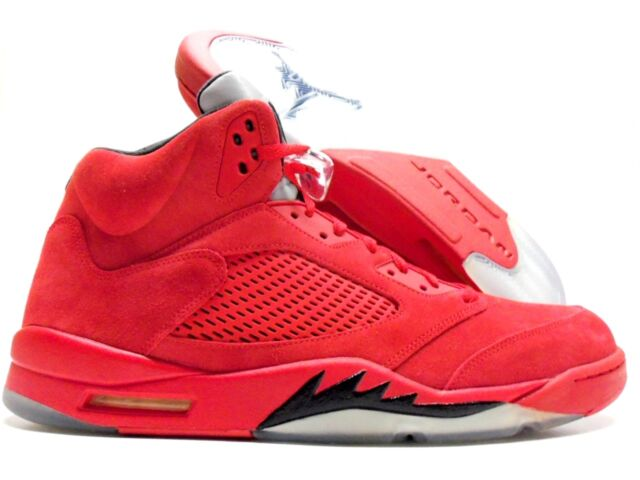 online retailer 27763 d75fc Nike Air Jordan 5 Retro University Red Suede 136027-602 Men s Size 17 DS QS