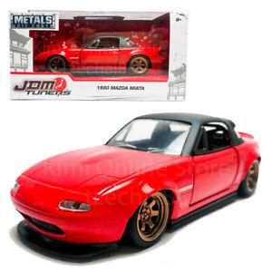 Jada-1-32-JDM-Tuners-Die-Cast-1990-Mazda-Miata-Car-Red-Model-Collection