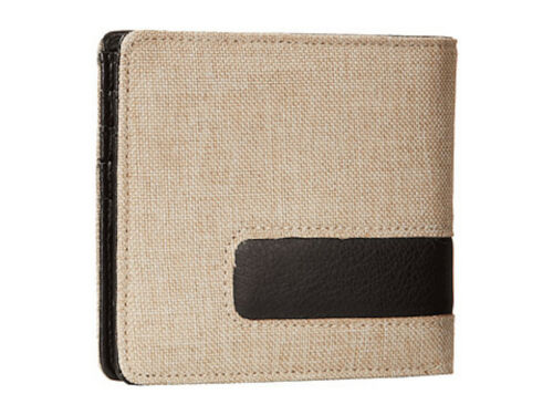 Nixon Showoff Mens Synthetic Leather Khaki Money Bi-fold Black Wallet