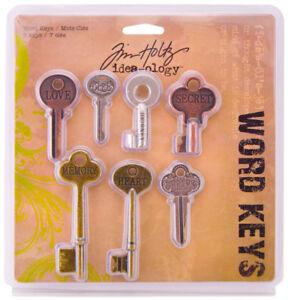 Tim-Holtz-Idea-ology-Word-Keys-Embellishments-Scrapbook