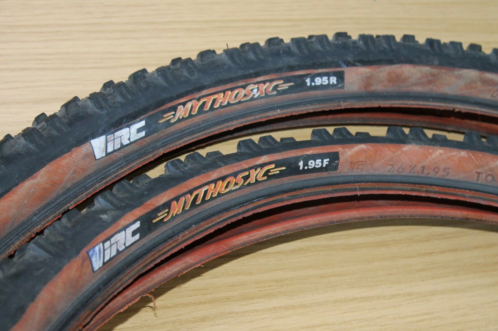 PAIR IRC Mythos XC 26 x 1.95 Inch Font & Rear Mountain Bike Tyre Tire Tyres Two