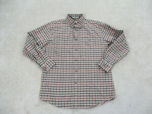 Orvis Button Up Shirt Adult Medium Brown Green Plaid Long Sleeve Casual Mens