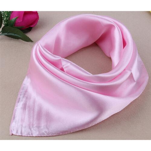 Women Lady Small Square Satin Silk Scarf Smooth Wrap Scarves Handkerchief 20ODUS