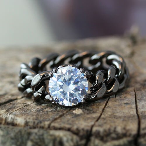 New Glamorous Chain Ring Crystal Jewelry Unique Ring Celebration Gift Idea