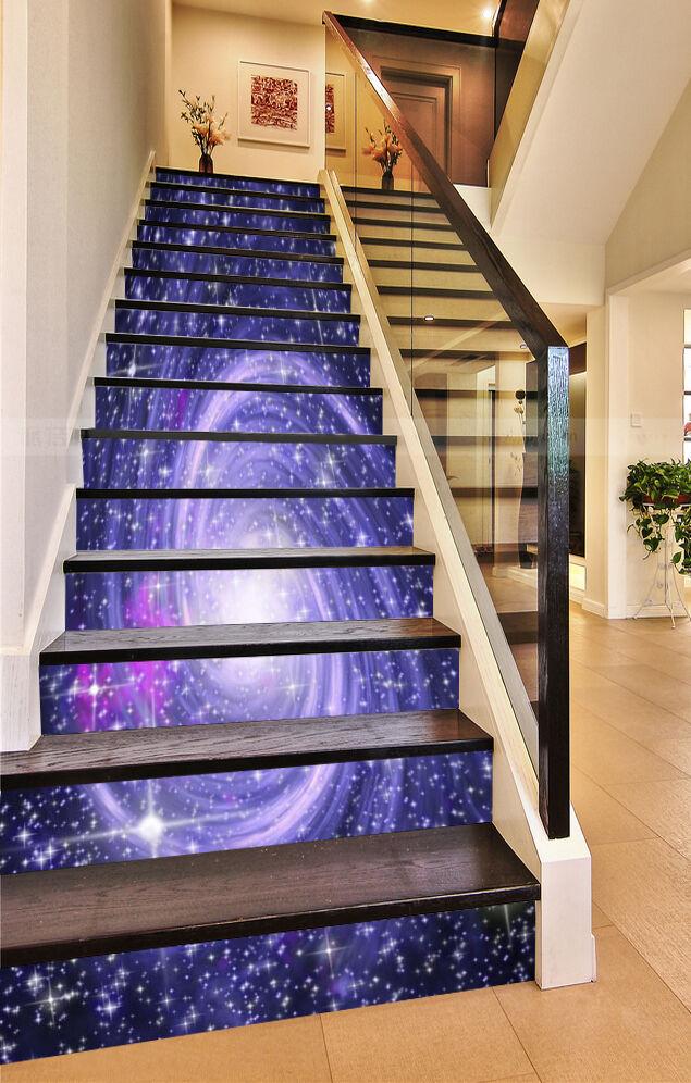 3D Star Swirl 65 Risers Decoration Photo Mural Vinyl Decal Wallpaper CA