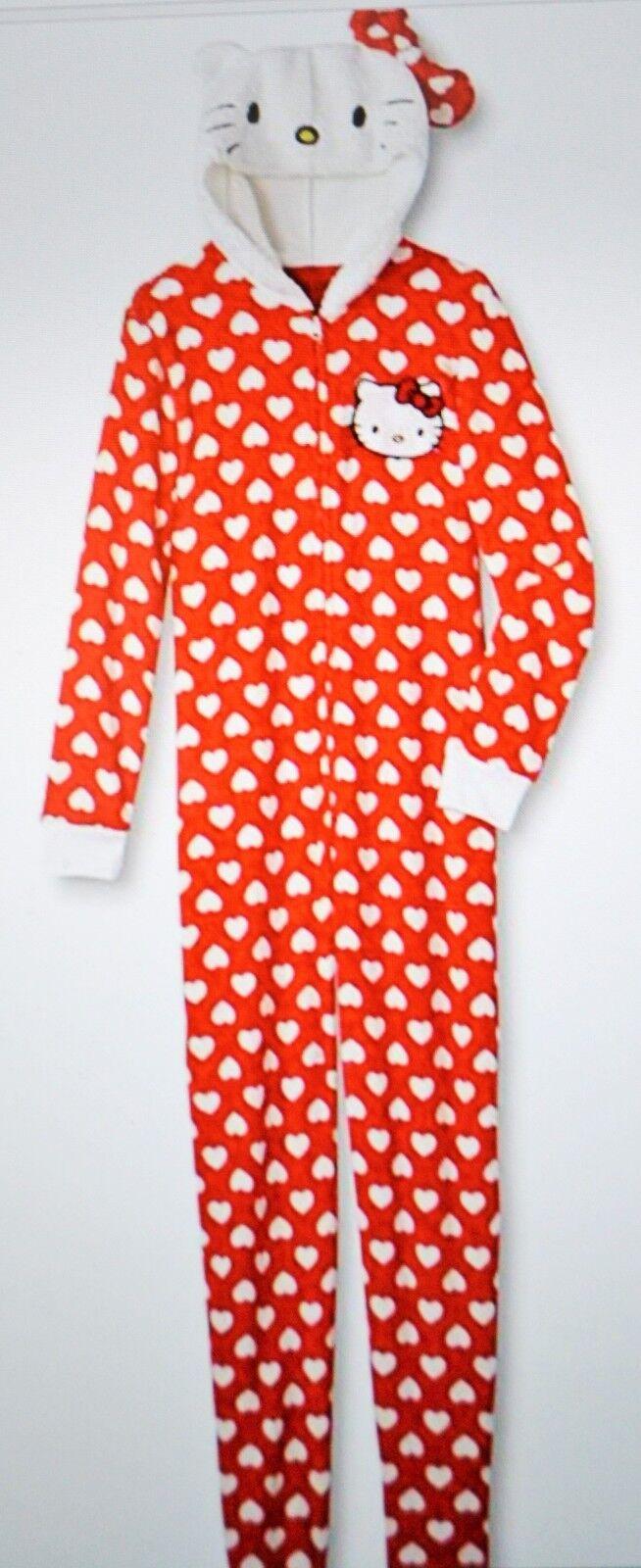 Sanrio Hello Kitty Women's One Piece Polka Dots Pajamas Size Medium NWT
