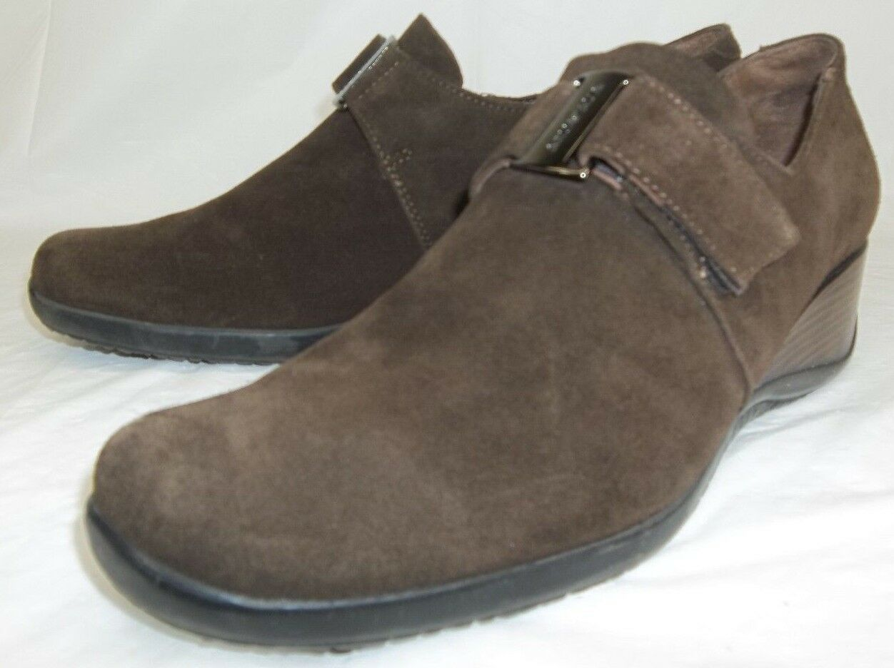 Aquatalia Marvin K Mujer Zapatos Zapatos Zapatos ee. UU. 9.5 Marrón Gamuza Cuña de gancho y bucle  tomar hasta un 70% de descuento