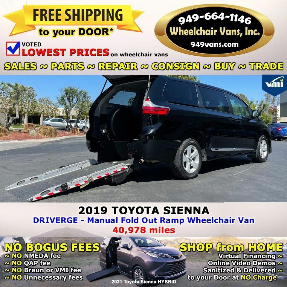 2019 Toyota Sienna L 7 Passenger 4dr Mini Van