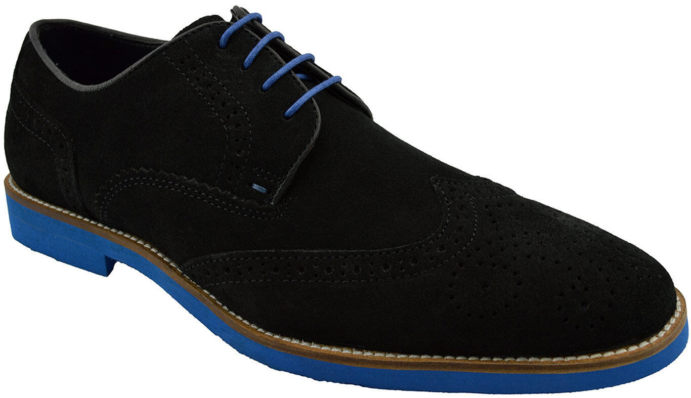 185 RED TAPE Black Suede Leather LAXFORD Dress Casual Oxfords Mens shoes