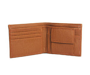 Faux Leather Money Wallet Purse for Men Gents with Card Slots - Brown