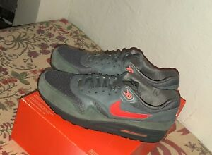 Details about Nike Air Max 1 FB Cool Grey Atomic Orange Promo Tag Size 9 New