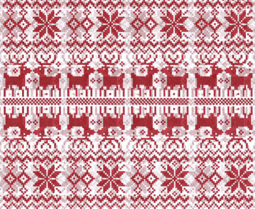 Nordic REINDEER and Snowflake Christmas Tissue Paper # 733-10 Large Sheets